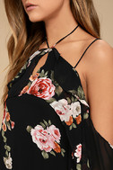 For the Love of Flowers Black Floral Print Top 5