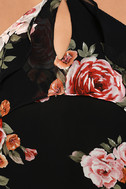 For the Love of Flowers Black Floral Print Top 6