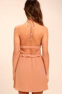 Tavik Rose Blush Pink Halter Dress 4