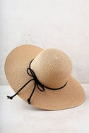 My Paradise Tan Floppy Straw Hat 3
