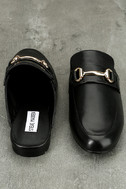 Steve Madden Kandi Black Leather Loafer Slides 3