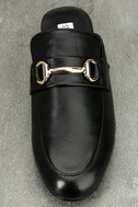 Steve Madden Kandi Black Leather Loafer Slides 5