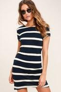 Billabong Sunset View Navy Blue Striped Shirt Dress 3