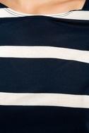 Billabong Sunset View Navy Blue Striped Shirt Dress 6