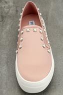 Steve Madden Glacier Blush Satin Slip-On Sneakers 5