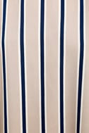 Broad Horizons Beige Striped Shift Dress 6