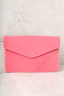 Daily To-Do Pink Velvet Clutch 2