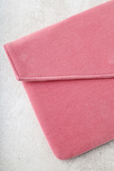 Daily To-Do Pink Velvet Clutch 3