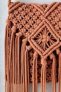 Mahala Terra Cotta Crochet Fringe Purse 3