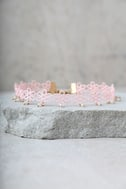Daisy Darling Blush Pink Lace Choker Necklace 2