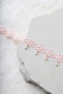 Daisy Darling Blush Pink Lace Choker Necklace 3