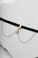 Shoot for the Stars Black and Gold Choker Necklace 2