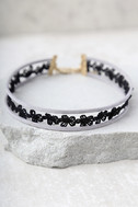 Good Combo Grey and Black Layered Choker Necklace 1