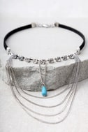 Have it All Silver and Turquoise Choker Necklace 1