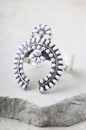 Ceremonial Silver and White Cuff Bracelet 2
