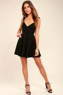 Sweeter Than Sugar Black Backless Skater Dress 2