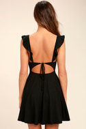 Sweeter Than Sugar Black Backless Skater Dress 4