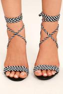 Kensey Black Lace-Up Heels 2