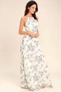 Adventure Seeker Cream Floral Print Maxi Dress 2