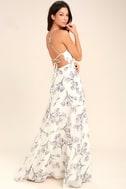 Adventure Seeker Cream Floral Print Maxi Dress 3
