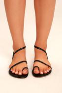 Mirela Black Flat Sandals 3