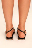 Mirela Black Flat Sandals 4
