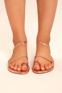 Mirela Rose Gold Flat Sandals 3