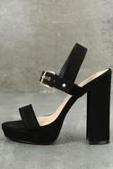 Alida Black Suede Platform Heels 2