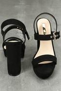 Alida Black Suede Platform Heels 3