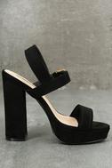 Alida Black Suede Platform Heels 4