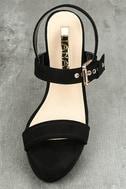 Alida Black Suede Platform Heels 5