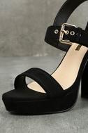 Alida Black Suede Platform Heels 6