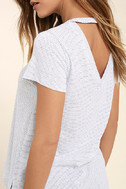 Basic Principle Black and White Striped High-Low Tee 5