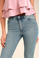 Cheap Monday Second Skin Light Blue High-Waisted Skinny Jeans 5