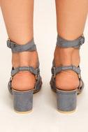 Galina Grey Suede Studded Leg Wrap Heels 4