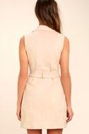 Geneva Blush Pink Suede Belted Vest 4
