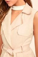 Geneva Blush Pink Suede Belted Vest 5