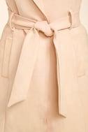 Geneva Blush Pink Suede Belted Vest 6