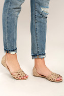 Equatorial Natural Huarache Flats 2