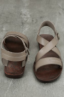 Blowfish Drum Birch Taupe Flat Sandals 3