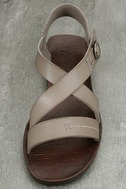 Blowfish Drum Birch Taupe Flat Sandals 5