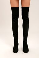 Steve Madden Isaac Black Suede Over the Knee Boots 2
