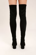 Steve Madden Isaac Black Suede Over the Knee Boots 4