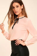 Tea Shop Blush Pink Long Sleeve Top 3