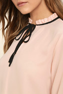 Tea Shop Blush Pink Long Sleeve Top 4