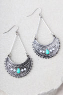 Imogene Turquoise and Silver Earrings 2