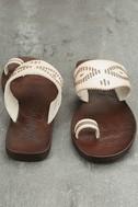 Blowfish Domaine Off-White Flat Sandals 3