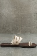 Blowfish Domaine Off-White Flat Sandals 4