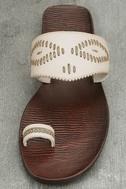 Blowfish Domaine Off-White Flat Sandals 5