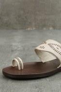 Blowfish Domaine Off-White Flat Sandals 6